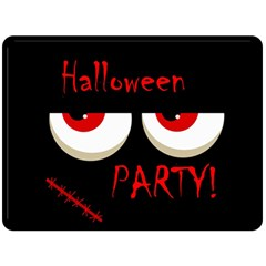 Halloween Party   Red Eyes Monster Fleece Blanket (large)  by Valentinaart
