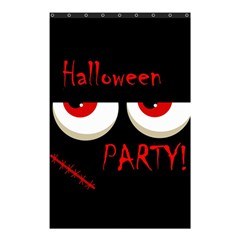 Halloween Party   Red Eyes Monster Shower Curtain 48  X 72  (small)  by Valentinaart