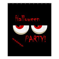 Halloween Party   Red Eyes Monster Shower Curtain 60  X 72  (medium)  by Valentinaart