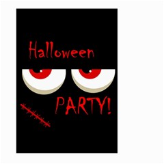 Halloween Party   Red Eyes Monster Large Garden Flag (two Sides) by Valentinaart