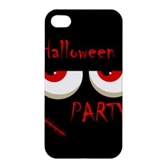 Halloween Party   Red Eyes Monster Apple Iphone 4/4s Premium Hardshell Case by Valentinaart