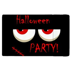 Halloween Party   Red Eyes Monster Apple Ipad 2 Flip Case by Valentinaart