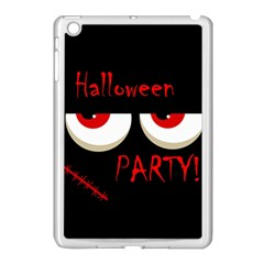 Halloween Party   Red Eyes Monster Apple Ipad Mini Case (white) by Valentinaart