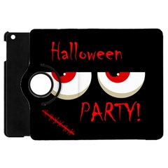 Halloween Party   Red Eyes Monster Apple Ipad Mini Flip 360 Case by Valentinaart