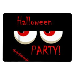 Halloween Party   Red Eyes Monster Samsung Galaxy Tab 10 1  P7500 Flip Case by Valentinaart