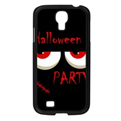Halloween Party   Red Eyes Monster Samsung Galaxy S4 I9500/ I9505 Case (black) by Valentinaart