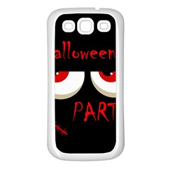 Halloween Party   Red Eyes Monster Samsung Galaxy S3 Back Case (white) by Valentinaart