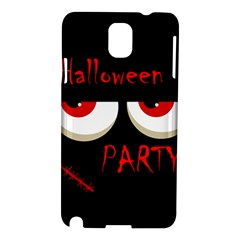 Halloween Party   Red Eyes Monster Samsung Galaxy Note 3 N9005 Hardshell Case by Valentinaart