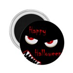 Happy Halloween - red eyes monster 2.25  Magnets Front