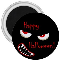 Happy Halloween   Red Eyes Monster 3  Magnets by Valentinaart
