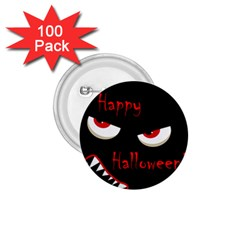 Happy Halloween   Red Eyes Monster 1 75  Buttons (100 Pack)  by Valentinaart