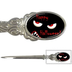 Happy Halloween   Red Eyes Monster Letter Openers by Valentinaart
