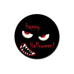 Happy Halloween   Red Eyes Monster Magnet 3  (round) by Valentinaart