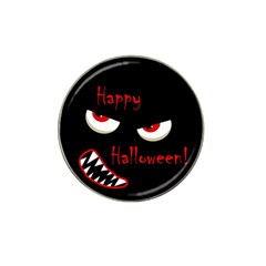 Happy Halloween   Red Eyes Monster Hat Clip Ball Marker by Valentinaart
