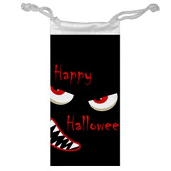 Happy Halloween   Red Eyes Monster Jewelry Bags by Valentinaart