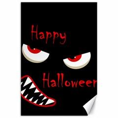 Happy Halloween   Red Eyes Monster Canvas 24  X 36  by Valentinaart