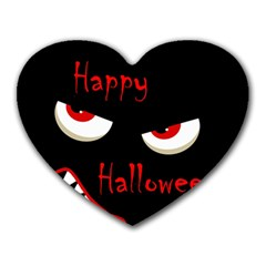Happy Halloween   Red Eyes Monster Heart Mousepads by Valentinaart
