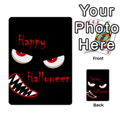 Happy Halloween   Red Eyes Monster Multi Purpose Cards (rectangle)  by Valentinaart