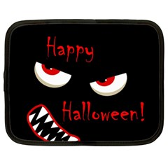 Happy Halloween   Red Eyes Monster Netbook Case (xl)  by Valentinaart