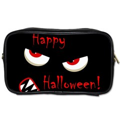 Happy Halloween   Red Eyes Monster Toiletries Bags by Valentinaart