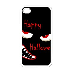 Happy Halloween   Red Eyes Monster Apple Iphone 4 Case (white) by Valentinaart