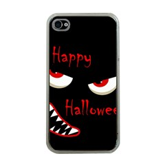 Happy Halloween   Red Eyes Monster Apple Iphone 4 Case (clear) by Valentinaart