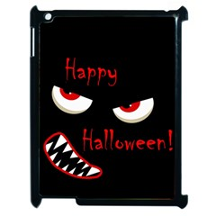 Happy Halloween   Red Eyes Monster Apple Ipad 2 Case (black) by Valentinaart