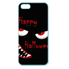 Happy Halloween   Red Eyes Monster Apple Seamless Iphone 5 Case (color) by Valentinaart