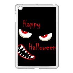 Happy Halloween   Red Eyes Monster Apple Ipad Mini Case (white) by Valentinaart