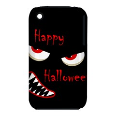 Happy Halloween   Red Eyes Monster Apple Iphone 3g/3gs Hardshell Case (pc+silicone) by Valentinaart