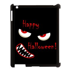 Happy Halloween   Red Eyes Monster Apple Ipad 3/4 Case (black) by Valentinaart