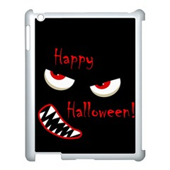 Happy Halloween   Red Eyes Monster Apple Ipad 3/4 Case (white) by Valentinaart