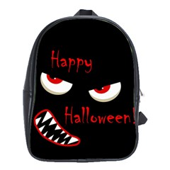 Happy Halloween   Red Eyes Monster School Bags (xl)  by Valentinaart
