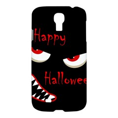 Happy Halloween   Red Eyes Monster Samsung Galaxy S4 I9500/i9505 Hardshell Case by Valentinaart
