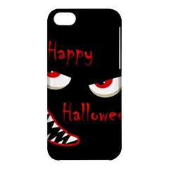 Happy Halloween   Red Eyes Monster Apple Iphone 5c Hardshell Case by Valentinaart