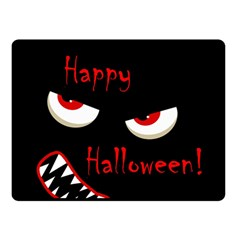 Happy Halloween   Red Eyes Monster Double Sided Fleece Blanket (small)  by Valentinaart