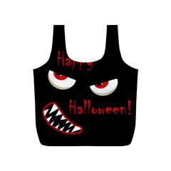 Happy Halloween   Red Eyes Monster Full Print Recycle Bags (s)  by Valentinaart