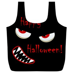 Happy Halloween   Red Eyes Monster Full Print Recycle Bags (l)  by Valentinaart