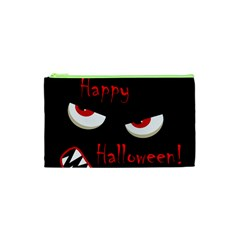 Happy Halloween   Red Eyes Monster Cosmetic Bag (xs) by Valentinaart
