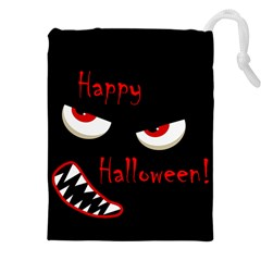 Happy Halloween   Red Eyes Monster Drawstring Pouches (xxl) by Valentinaart