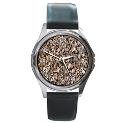 Nitter Stone Round Metal Watch