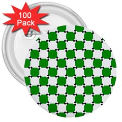 Optical Illusion 3  Buttons (100 Pack)
