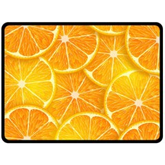 Orange Copy Fleece Blanket (large)  by AnjaniArt
