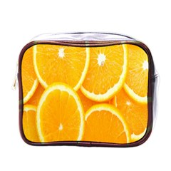 Orange Fruit Mini Toiletries Bags by AnjaniArt
