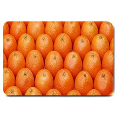 Orange Fruits Large Doormat