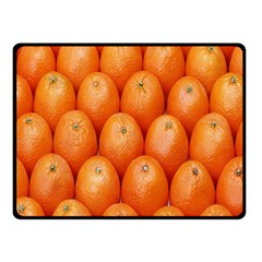 Orange Fruits Fleece Blanket (small)