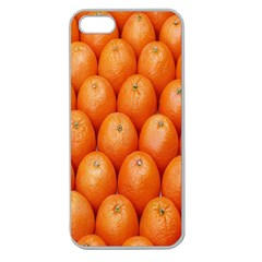 Orange Fruits Apple Seamless Iphone 5 Case (clear)