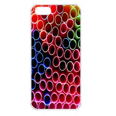Pexels Pink Green Pipe Jpeg Apple Iphone 5 Seamless Case (white) by AnjaniArt