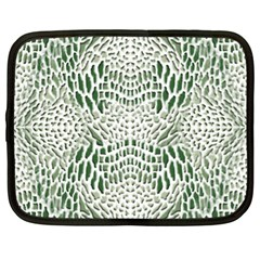 Green Reptile Scales Netbook Case (xl)