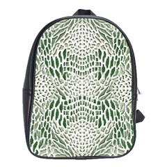 Green Reptile Scales School Bags(large)
